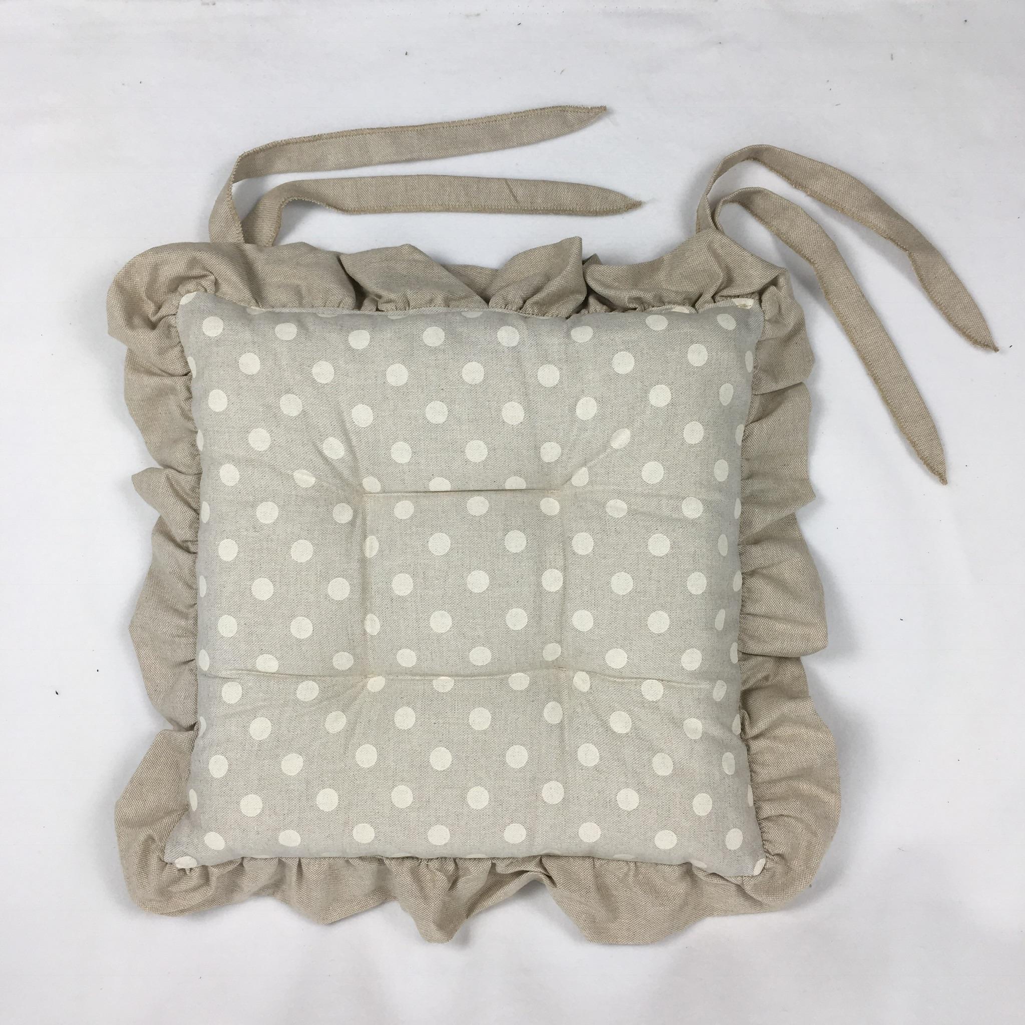 Cuscini Pois.Cuscino Pois Bianco Da Giselda Biancheria Per La Casa Tessuti