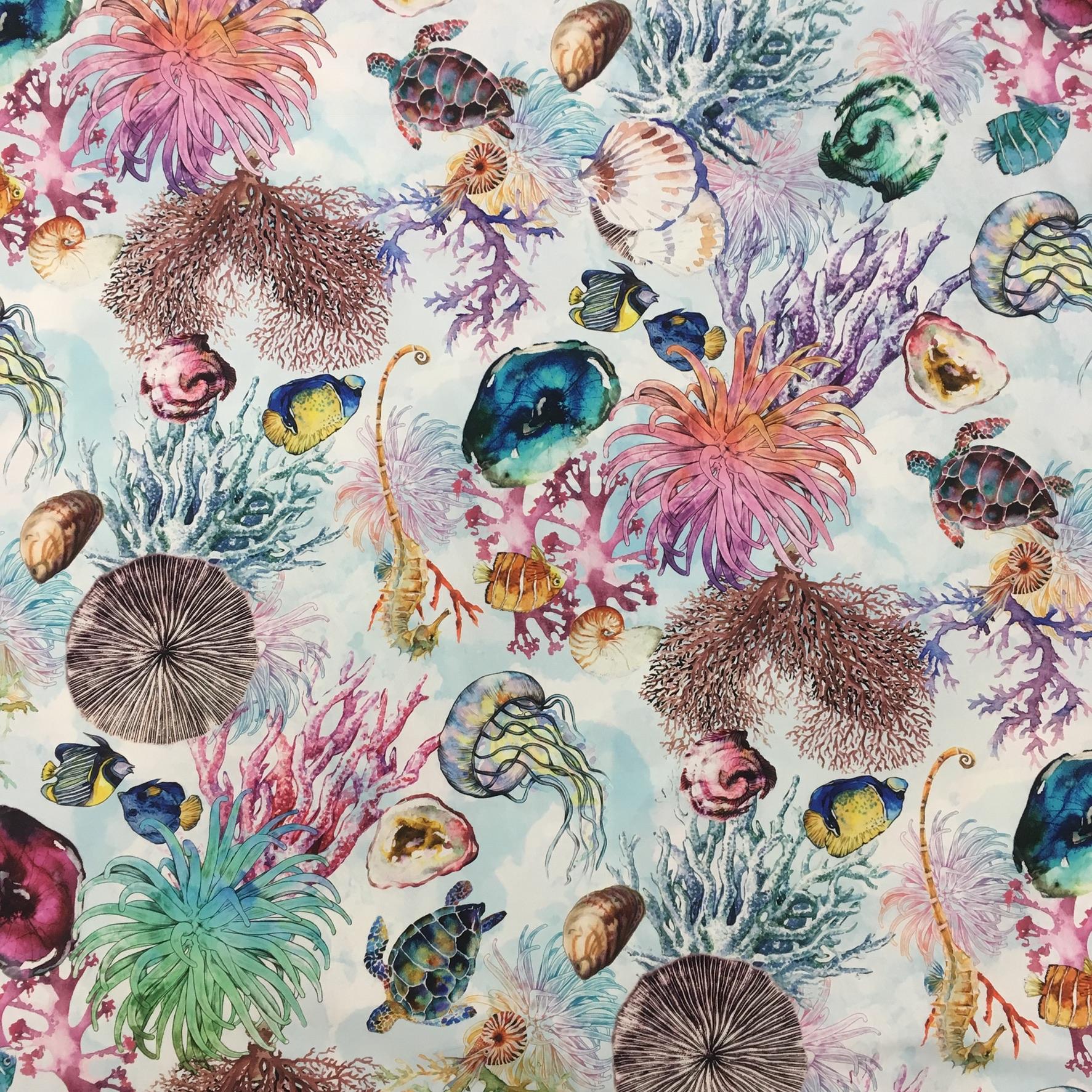 43fecff2c6 tessuto 100% cotone biologico fantasia mare – Da Giselda ...
